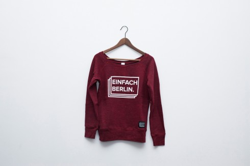 Red Wideneck Sweatshirt
